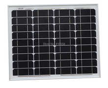40w solar panel mono-crystalline solar panels 40W A grade Solar Cell 17% charging efficiency 25 year warranty