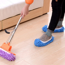 New Dust Cleaner Grazing Slippers House Bathroom Floor Cleaning Mop Cleaner Slipper Lazy Shoes Cover Microfiber Mop Caps(China)