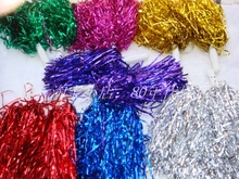 50pcs/lot Pompom,Cheering Pompom,Metalic Pom Pom,Cheerleading Products,30G,7 Colours D-1157