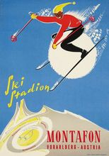 Skiing in Chamonix Mont Blanc Vintage Retro Kraft Travel Poster Decorative DIY Wall Sticker Home Bar Art Posters Decoration Gift