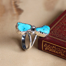 925 silver super personality Thailand supply of natural stone atmospheric female models ring
