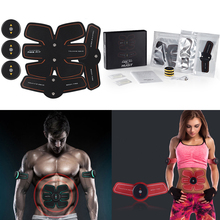 Rechargable Electric Smart EMS Abdominal Muscle Intensive Stimulator Exerciser Trainer Machine Weight Loss Slimming Massager(China)