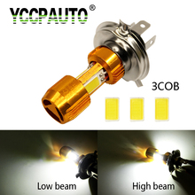YCCPAUTO H4 Motorcycle Headlight LED High Low Beam 2000LM Motor Fog 9003 HB2 White 9-80V Scooter ATV Light For YAMAHA KTM Honda(China)