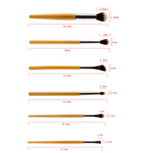 6 Pcs Makeup Brush Set Angled Blending Brush Pro Blush Foundation Eyeshadow Eyebrow Cosmetic Brushes Kit Face Eye Beauty Tools