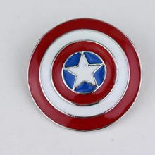 New Creative Cartoon Novelty Exquisite Fashion Fashion Captain America Badges Metal Brooch Cosplay Party Supplies Souvenir(China)