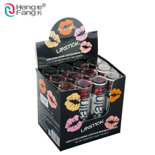 12Pcs/Lot Waterproof Nutritious 12 Lipstick Easy To Wear Cosmetic 3.5gx12 Profession Lips Makeup Brand HengFang #H113-H128(China)