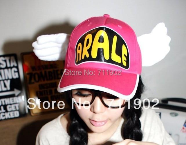 10pcs free shipping/ Arale Angel Baseball Cap / winged hat<br><br>Aliexpress