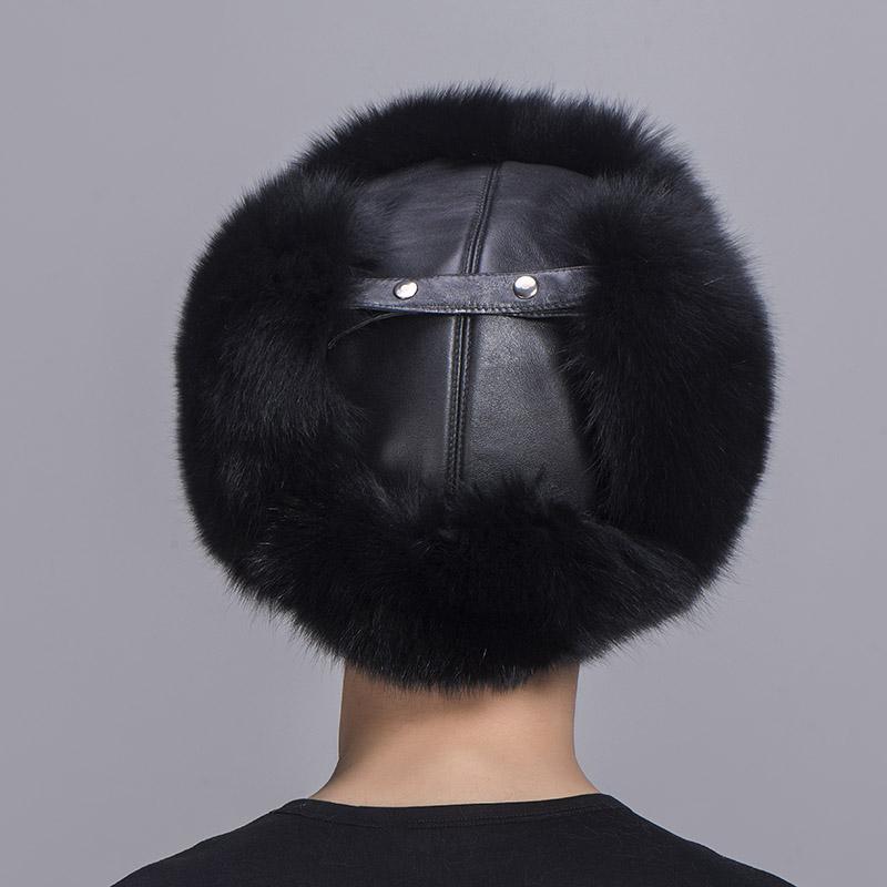 big fur hat black fox fur 2