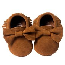 ROMIRUS Brand 9 Colors baby girl shoes kids first walkers Soft Tassel Girls Bow Soft sole Infants Girl shoes best love(China)