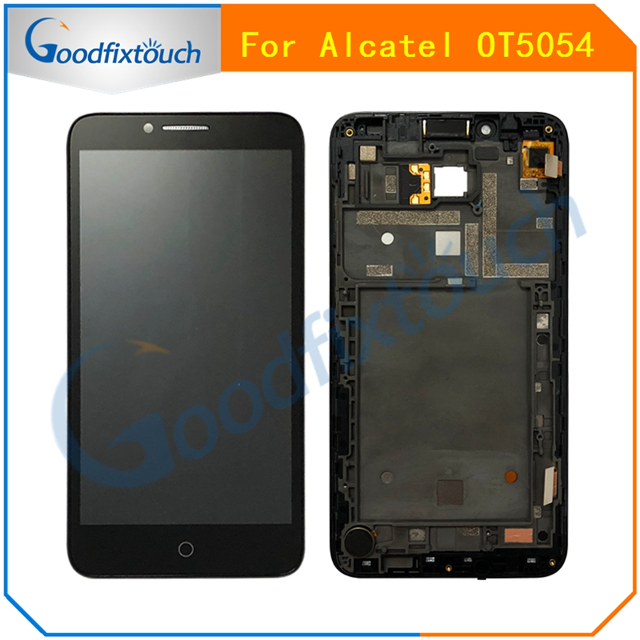 AT0207 For Alcatel One Touch Fierce XL OT5054 5054D 5054 5054N LCD Display Touch Screen Panel Digitizer Assembly With Frame  (2)