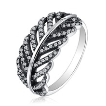 Martick 925 Sterling Silver Light As A Feather Ring White & Clear CZ Finger Ring For Women Wedding Authentic Fine Jewelry P47