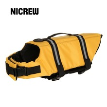 Nicrew Dog Life Jacket Dog Safety Pet Swimsuit Superior Buoyancy Lifesaver Safety Reflective Vest Pet Life Preserver Clothes(China)