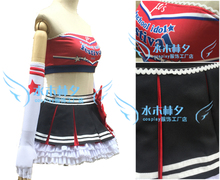 love live Paradise Live NISHIKINO MAKI cosplay costume free shipping custome made headband+top+skirt+stockings+gloves(China)