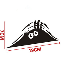Car Stickers 7*19cm Funny Peeking Monster Auto Car Walls Windows Sticker Graphic Vinyl Car Decals Accessories
