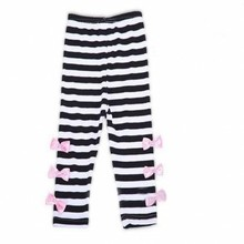 Wholesale New Kids Girls Bow Striped Leggings Suit Long Sleeve Shirts Tops Sets Size 3-8 Y With Factory Price(China)