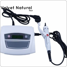 White Digital Ultrasonic Hair Extensions Fusion Machine/ Connector Ultrasonic Hair connector fusion Ultrasonic iron hair tools(China)