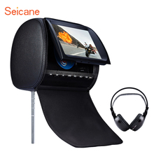 Popular High Quality Headrest DVD Player 9 inch 800*480 with FM Games and Zipper Cover (1 PCS) Car Kit