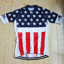 RIDE POINT USA Flag Women Summer Short Sleeve Cycling Jersey Ourdoor Sport Breathable MTB Dh Mountain Bike Jerseys Cycling Wears(China)