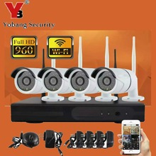 YobangSecurity 960P Wireless CCTV System 4ch wifi NVR Wireless NVR IP Bullet CCTV Camera Home Security System Surveillance(China)