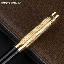 MONTE MOUNT High Quality Office School Stationery Black and gold Golden Clip Ballpoint Pen with