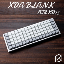 XDA blank keycaps xd75re Keyset Blank Similar to DSA For MX Mechanical Keyboard Ergo Filco Leopold Cosair Noppoo Planck(China)
