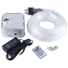 32W RGB 4-speed Twinkle remote LED Fiber Optic  star ceiling kit light 835 strands 5m(0.75mm+1.0mm+1.5mm) +Crystal