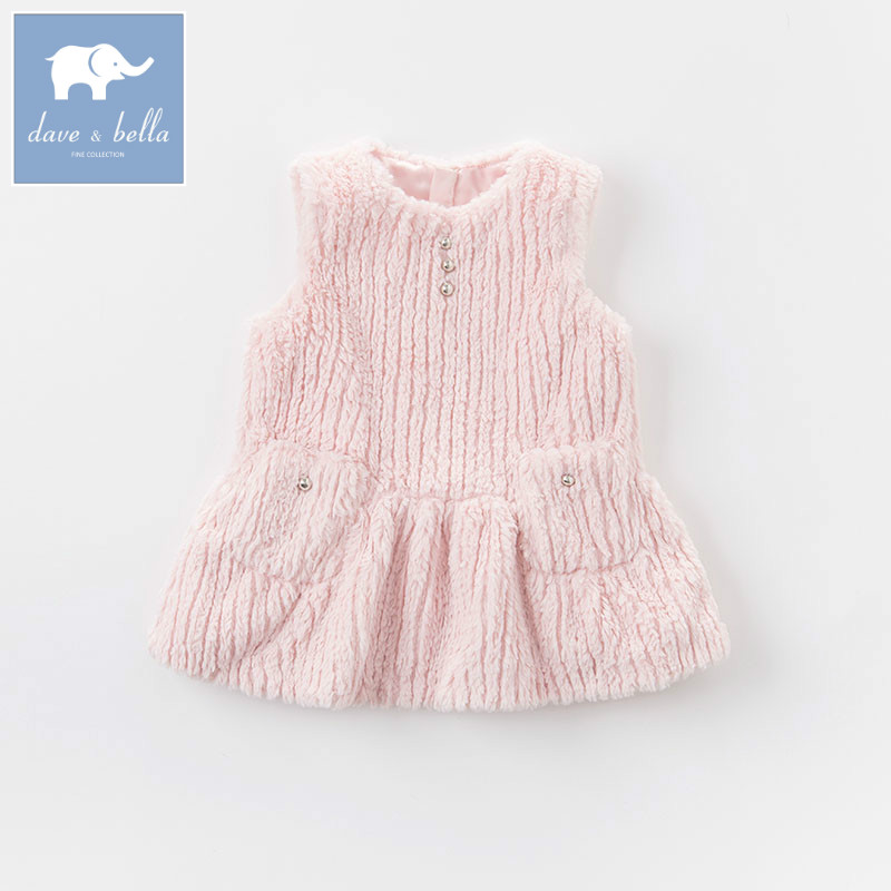 DB5939 dave bella infant baby girls princess dress kids fashion party birthday pink dress children toddle clothes <br>