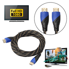 10/15M Braided HDMI Cable V1.4 AV HD 3D For PS3 Xbox HDTV Meters 1080P With Skidproof Gold-plated Plug Head