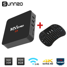 US STOCK MXQ pro Smart Android 6.0 TV BOX Loaded Kodi Quad Core 1GB+8GB Streaming Media Player Set-top box + Wireless Keyboard(China)