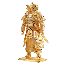 WMX Kids Adult Toys 3D Construction Figures Model Puzzle General Samurai Warriors Armor for Children Tangram DIY Jointing(China)