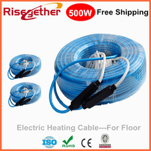 Twin Core Heating Wooden Floor Cables With Free Shipping 220V Indoor Tile Heating Cable Electric Hot Cable For House Floor Heat(China)