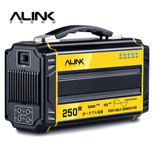 ALINK 250W Portable Generator Solar Power Inverter Camping 222Wh 60000mAh Rechargeable Battery with AC, DC,USB Port Power Supply(China)