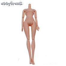 Abbyfrank 12 Moveable Joints Doll Without Head Body Doll Plastic Solid Cake Baking Princess Doll Naked Body For Female Figure(China)