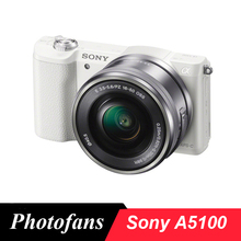 Sony A5100 Mirrorless Digital Camera with 16-50mm Lens (White)(China)