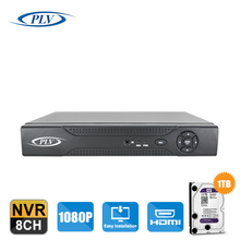 Onvif H.264 P2P High Definition Mini 1080P Full HD 8CH 4CH Network Video Recorder IP NVR For IP Camera 1TB Hard Disk for storage(China)