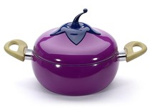 fashion Vegetables Modeling Non Stick Pot Lovely Style eggplant Pot Cookware Kitchen Cooking Pot Soup(China)