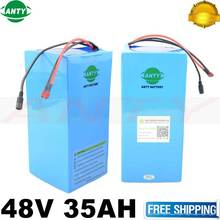 eBike Battery 48V 35Ah 2000W 18650 Lithium Battery Pack For 48V Electric Bike Drive Motor With 54.6V Charger 50A BMS Battery Kit