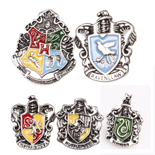Fashion brooches HP Brooch Badge Ravenclaw Hogwarts Slytherin Hufflepuff Unisex Shirt