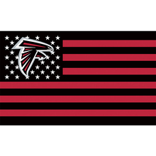 Atlanta Falcons Flag Black Red US 3ftx5ft Banner World Series Football Team Flags Banners America 90x150cm(China)