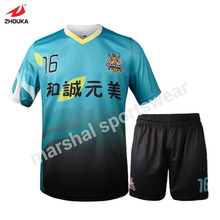 men's sublimation custom soccer jersey set t shirt design your own football shirt online full set soccer uniforms(China)