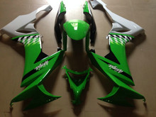Motorcycle Fairing Kit for KAWASAKI Ninja ZX10R 08 09 ZX 10R 2008 2009 zx 10r ABS White green Fairings set+7gifts KT02