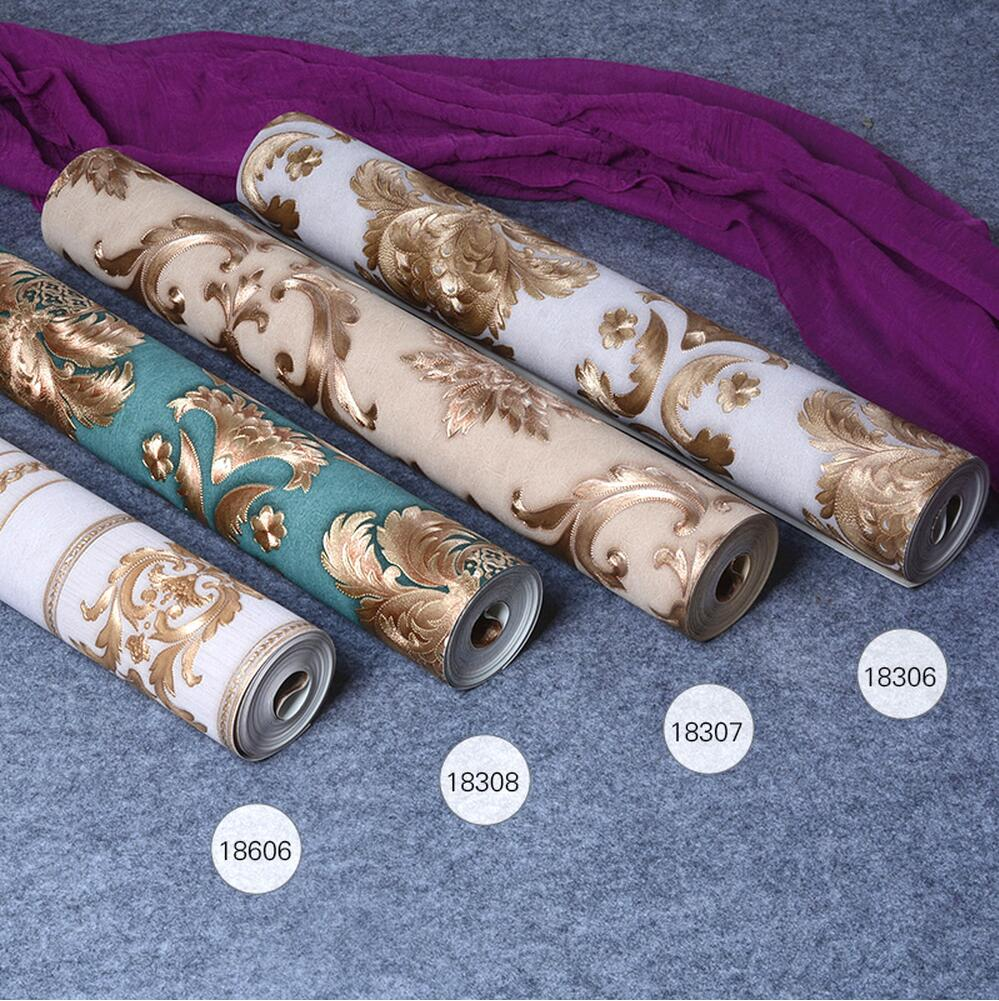Fashion Emboss carved wallpaper for malaysia luxury flower wallpaper ab bars wallpaper<br>