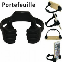 Portefeuille Universal Flexible Thumb Smartphone Tablet Mount Holder For Xiaomi mi6 iPhone 5s 7 6 S 5 yotaphone 2 telefon tutucu