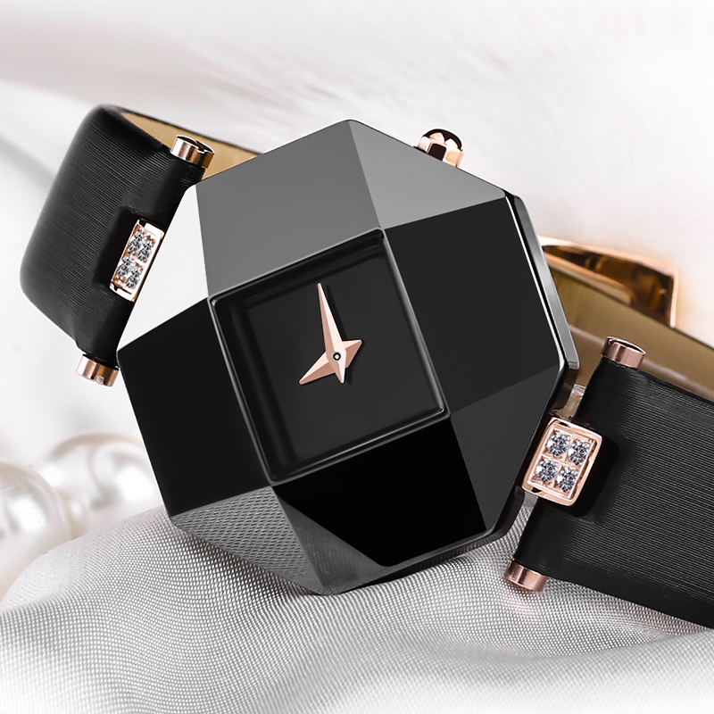 quartz watch women Luxury brand watch Leather strap Ceramic shell Prevent allergy 5Bar waterproof watches for women watches 2017<br>