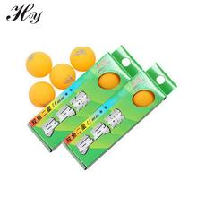 Wholesale Orange Table Tennis Balls Plastic 1 Boxes 3Pcs PingPong Ball 40mm Celluloid Tennis Table Ball Training PingPong Ballen(China)