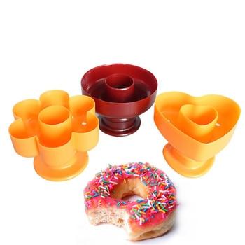 New Plastic different designs  Donut Cake Mold Home DIY Desserts Bread Plunger Cutter Maker Mould