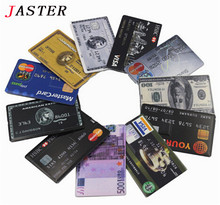 JASTER Free DHL/EMS wholesale 50pcs/LOT 8GB 16GB Bank Credit Card Shape USB Flash Drive Memory stick Card Stick mini gift