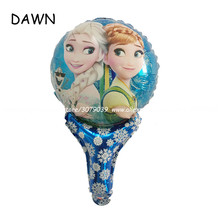 10pcs Elsa Anna Round Foil Balloon Wedding Decoration Cartoon Inflatable Balloons Birthday Party Decorations Ornament Kids toy