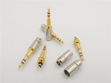 Copper Mini 2.5 mm 3 pole male audio plug TRS dual channel Soldering Cable Connectors for stereo phone jack(China)