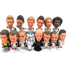 11pcs/set 6.5cm Madrid Cristiano Ronaldo Benzema Bale Zinedine zidane Marcelo James Action Figure Jersey Football star toys gift